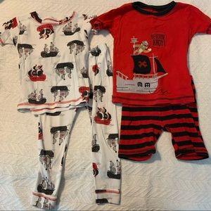 Just One You four piece pajama set- pirate